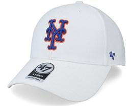 New York Mets Mvp White Adjustable - 47 Brand