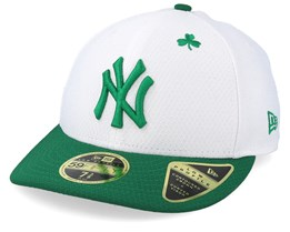 6f3fcd8bfb5be New York Yankees MLB19 Low Profile Of St. Pats Day White Green Fitted -