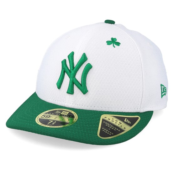 Keps New York Yankees MLB19 Low Profile Of St. Pats Day White/Green Fitted - New Era - Vit Fitted