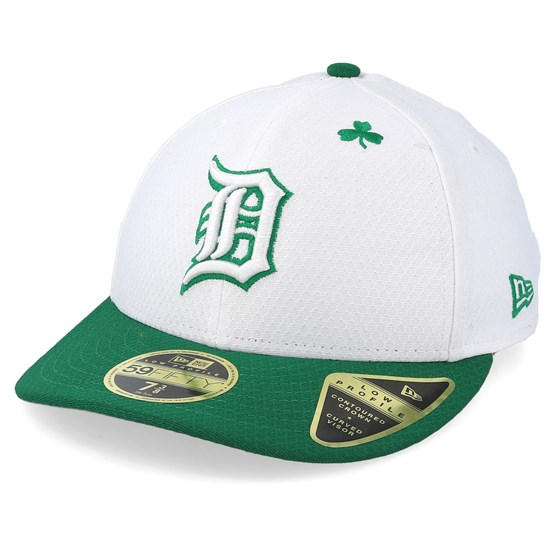 Keps Detroit Tigers MLB19 Low Profile Of St. Pats Day White/Green Fitted - New Era - Vit Fitted