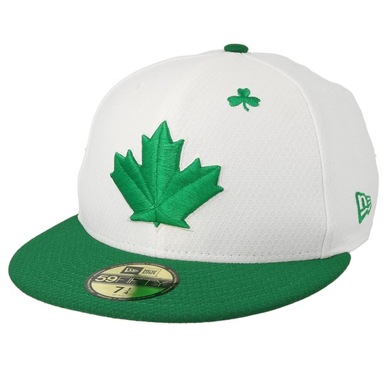 Keps Toronto Blue Jays MLB19 Low Profile Of St. Pats Day White/Green Fitted - New Era - Vit Fitted