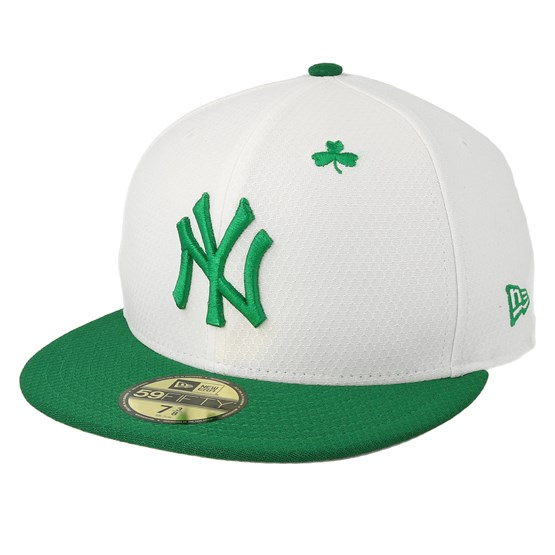 Keps New York Yankees MLB19 59Fifty Of St. Pats Day White/Green Snapback - New Era - Vit Snapback