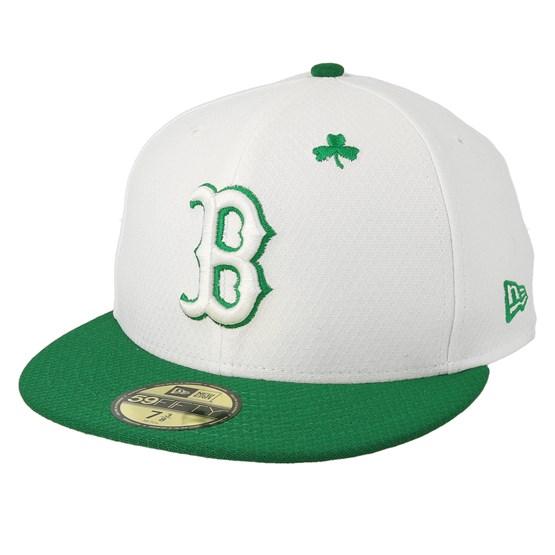 Keps Boston Red Sox MLB19 59Ffity Of St. Pats Day White/Green Snapback - New Era - Vit Snapback