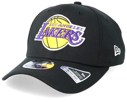 LA Lakers Stretch Snap 9Fifty Black Adjustable - New Era