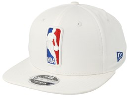 NBA Logo Featherweight White Snapback - New Era