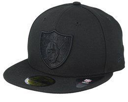 e466370ebbff23 Oakland Raiders NFL Tonal 59Fifty Black/Black Fitted - New Era