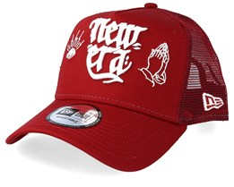 Script Red/White Trucker - New Era
