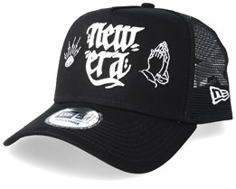 Script Black/White Trucker - New Era