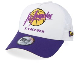 LA Lakers Neoprene White/Purple Trucker - New Era