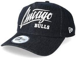 Chicago Bulls Denim A Frame Black Adjustable - New Era