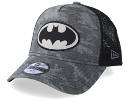 Kids Batman 9Forty Grey Camo/Black Trucker - New Era