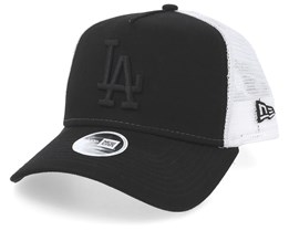 Los Angeles Dodgers Womens Essential Black/White Trucker - New Era