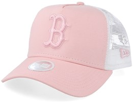 Boston Red Sox Womens Essential Peach/White Trucker - New Era