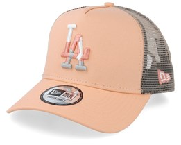 Los Angeles Dodgers Camo Infill Peach Trucker - New Era