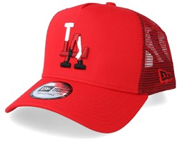 Los Angeles Dodgers Camo Infill Red Trucker - New Era