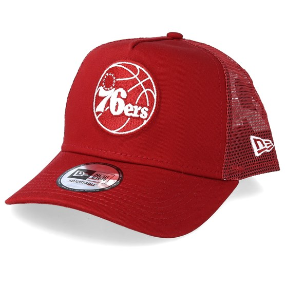 the best attitude fd383 82d90 Philadelphia 76ers Essential Red White Trucker - New Era caps -  Hatstoreworld.com