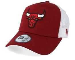 Chicago Bulls Shadow Tech Red/White Trucker - New Era