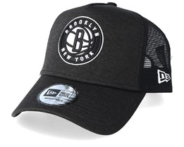 Brooklyn Nets Shadow Tech Black/Black Trucker - New Era