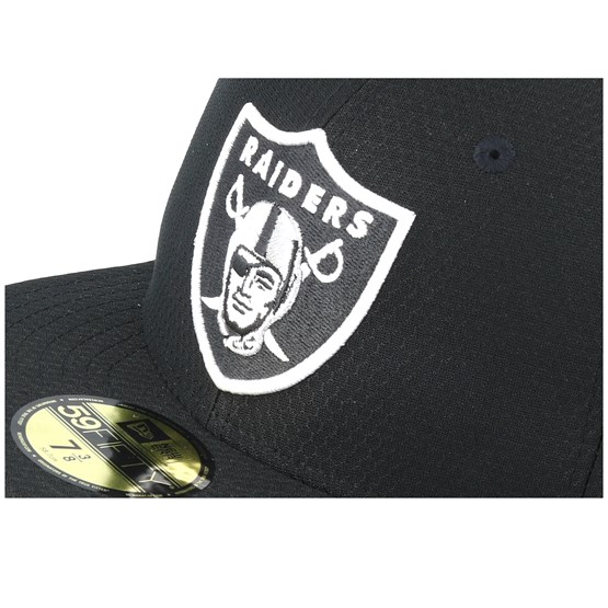 Oakland Raiders Hex Era 59fifty Black White Fitted New