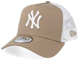 New York Yankees League Essential Camel/White Trucker - New Era