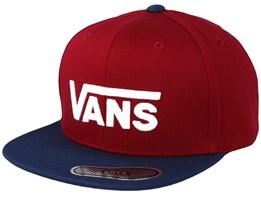 Kids Drop V II Red/Navy Snapback - Vans