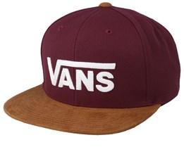 Drop V II Burgundy/Camel Snapback - Vans