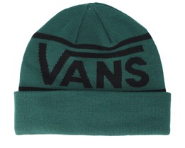 Drop V Stripe Green Cuff - Vans