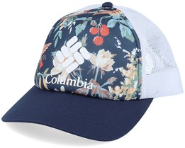 Mesh II Floral, Nocturnal, White Trucker - Columbia