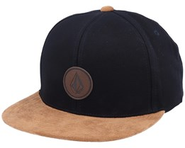 Quarter Fabric Blackout/Suede Snapback - Volcom
