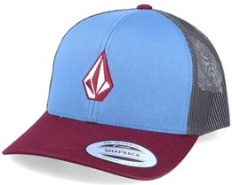 Full Stone Cheese Stormy Blue/Grey/Maroon Trucker - Volcom