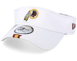 Washington Redskins On Field 19 Training White Visor - New Era