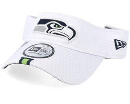 Seattle Seahawks On Field 19 Training White Visor - New Era