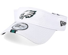 Philadelphia Eagles On Field 19 Training White Visor - New Era
