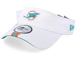 Miami Dolphins On Field 19 Training White Visor - New Era