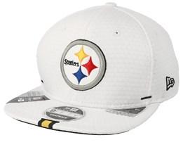 Pittsburgh Steelers 9Fifty On Field 19 Training White Snapback - New Era