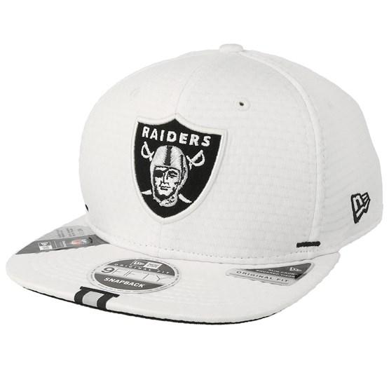 Keps Oakland Raiders 9Fifty On Field 19 Training White Snapback - New Era - Vit Snapback