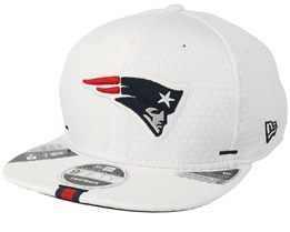 New England Patriots 9Fifty On Field 19 Training White Snapback - New Era