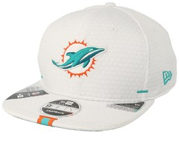 Miami Dolphins 9Fifty On Field 19 Training White Snapback - New Era