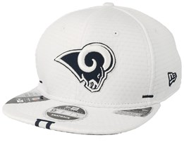 Los Angeles Rams 9Fifty On Field 19 Training White Snapback - New Era