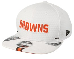 Cleveland Browns 9Fifty On Field 19 Training White Snapback - New Era