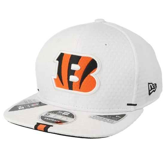 Keps Cincinnati Bengals 9Fifty On Field 19 Training White Snapback - New Era - Vit Snapback