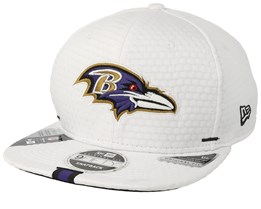 Baltimore Ravens 9Fifty On Field 19 Training White Snapback - New Era