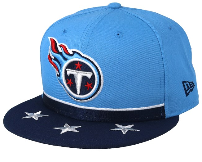 pretty nice a6619 4d5e0 Tennessee Titans 9Fifty NFL Draft 2019 Light Blue Navy Snapback - New Era