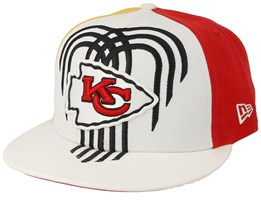 Kansas City Chiefs 9Fifty NFL Draft 2019 White/Red/Yellow Snapback - New Era