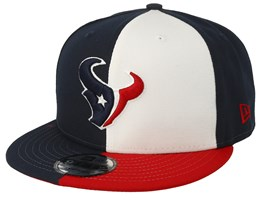 bae626f8138 Houston Texans 9Fifty NFL Draft 2019 White Red Navy Snapback - New Era