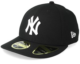 af7b85db8e8 New York Yankees Low Profile 59Fifty Black White Fitted - New Era