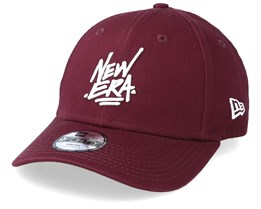 Kids Script 9Forty Maroon Adjustable - New Era
