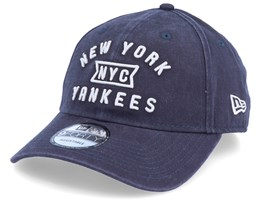 New York Yankees Vintage Team Front 9Forty Navy/Grey Adjustable - New Era