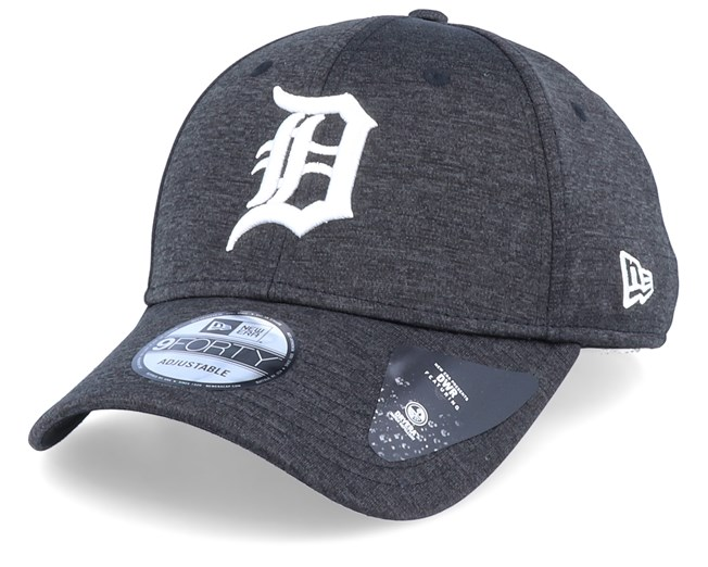 wide varieties low price sale top design Detroit Tigers Shadow Tech Jersey 9Forty Black/White Adjustable ...