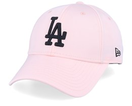 Los Angeles Dodgers Womens Satin 9Forty Pink/Black Adjustable - New Era